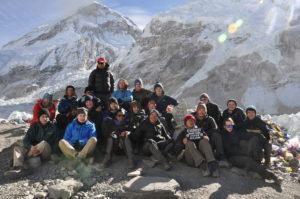 Student group at Base Camp, Mount Everest